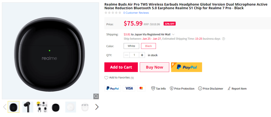 Gearbest Realme Buds Air Pro