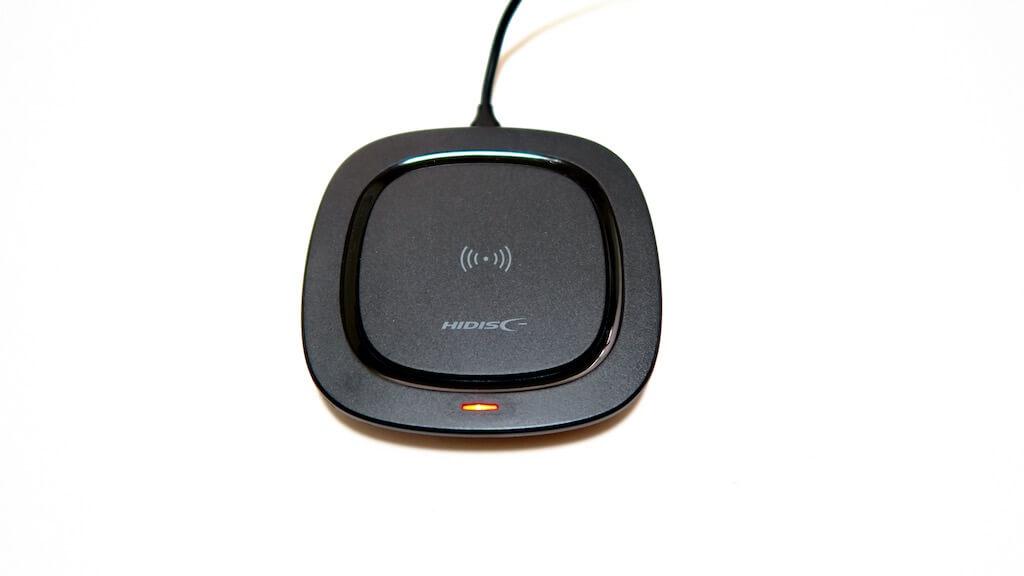 HIDISC ワイヤレス充電器 充電ランプ