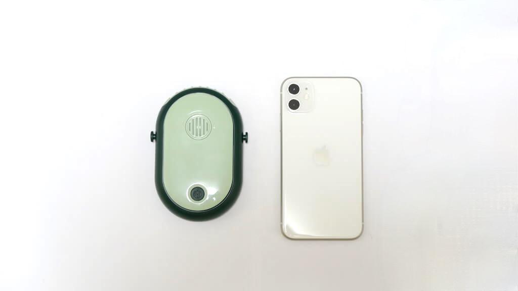AmazonのTypec-C携帯扇風機。iPhoneより小さい